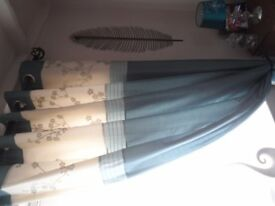 GORGEOUS FAUX SILK FULLY LINED CURTAINS - EXCELLENT CONDITION