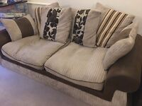 Two seater fabric sofa (Used - good condition)