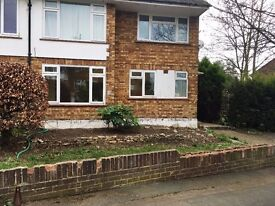 Fully redecorated large 2 bed with front and back garden - walking distance to Weybridge Station