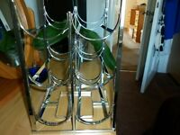 6 BOTTLE CHROME WINE RACK