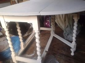 shabby chic painted gate leg table
