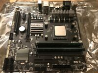 Gigabyte motherboard, 16gb DDR3 RAM, AMD FX-8350 CPU & heatsink