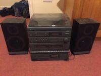 AUDIO SYSTEM , vinyl, radio, AUX, CD and cassette - FREE