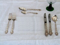 Oneida Community Plate Cutlery, Mansion House pattern - Place Settings, Serving Spoons