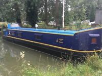 50ft narrowboat liveaboard houseboat near London