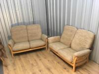 Two 2 Seater Ercol sofas delivery poss