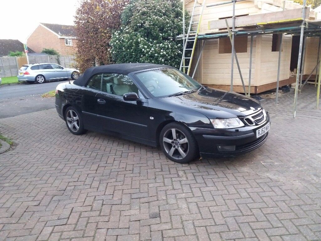 Saab 93 convertible. Body needs tlc but maniacally spot on.