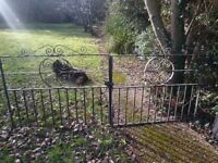 "Heavy iron driveway gates for approx 8'4"" opening"
