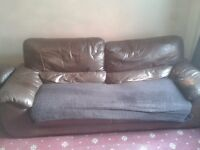3 Piece Leather Sofa - FREE - Pick-Up ONLY