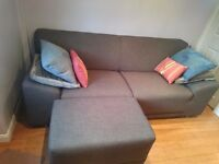 DFS three seater sofa with footstool £175