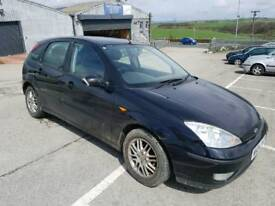 2004 FORD FOCUS 1.8 GHIA 5 DOOR HATCHBACK BLACK ++LOW MILEAGE ++
