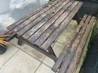 Garden table snd 2 office chairs