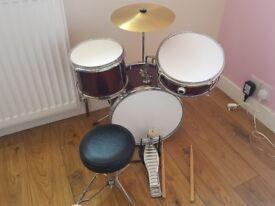Kids 5 piece drum kit