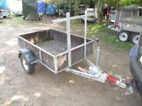 VERY RARE 550KG BRAKED 5-6 X 3-6 GALVANISED TRAILER WITH DROPTAIL....