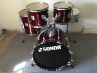 sonor force 2001 drums shellpack.