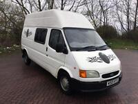 W REG FORD TRANSIT 2.5 BANANA ENGINE-PART MOTORHOME-12 MONTHS MOT TEST-IDEAL PROJECT-