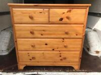 Pine chest of drawers with FREE DELIVERY