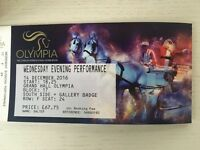 4 x Evening Performance for the Olympia Horse Show Wednesday 14th December