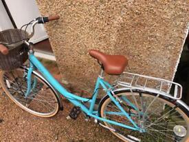 Vintage Style Bike in Blue - Reflex