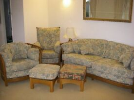 Three-piece Ercol suite