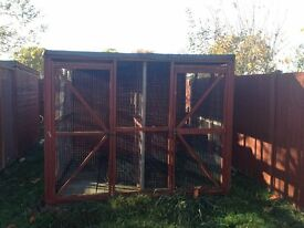 kennel block 8 x 6 with 8 foot run buyer to dismantle and take away