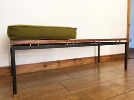 Mid century Scandinavian bench vintage retro