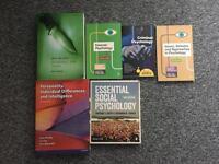 Criminology and psychology textbooks.