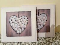 Pebble Heart Canvas Print