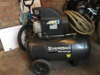 8bar Air compressor with airline and new clarke spary gun