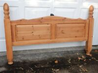 HIgh Pine Bed end