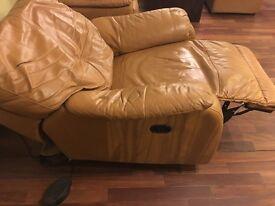 Leather motor riser chair