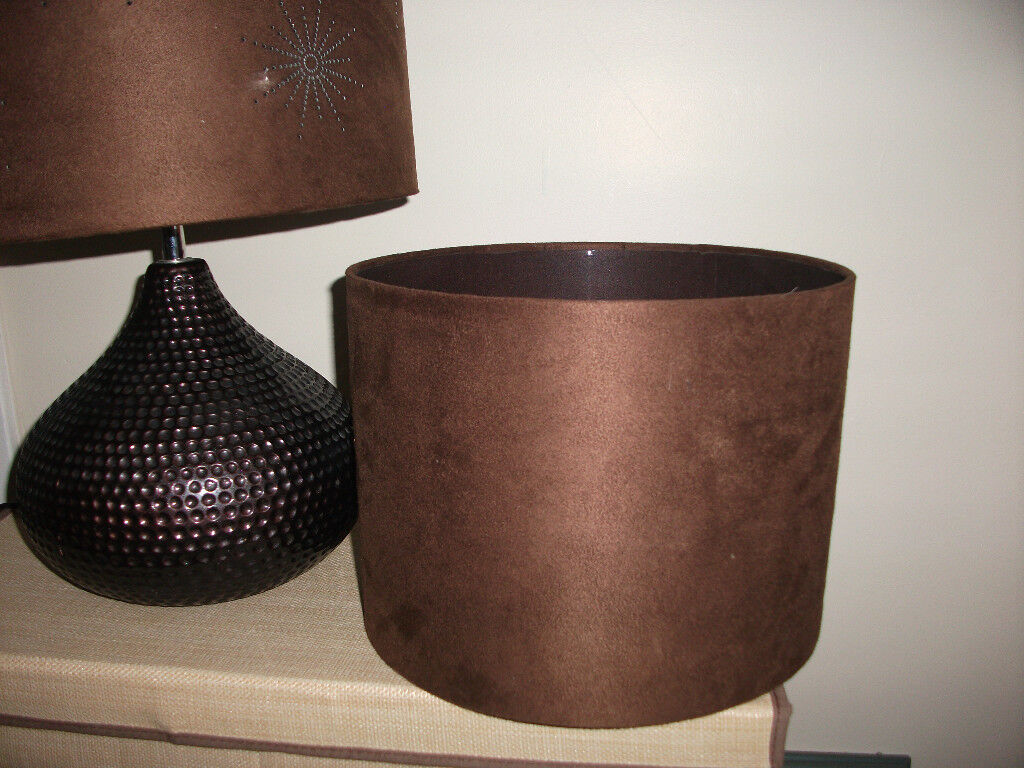 Large Chocolate Brown Table Lamp