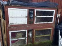 Large rabbit hutch. Needs some work