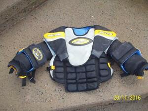 Junior Large Goalie Chest and Arm Protector (Brown Elite Resonator)