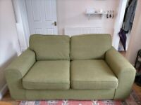 Green Twin Seater Sofa Used - Comfy, Spacious & Lightweight