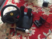 PS3 steering wheel, pedals , camera 🎥 ,motion controller ,
