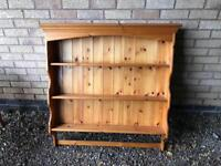 SOLID PINE WALL MOUNTED PLATE RACK - CAN DELIVER