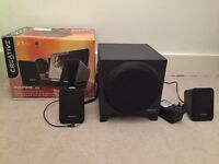 Creative Inspire 2.1 Speakers with all parts and box and in very good condition