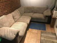 Corner sofa for sale L-shape, nearly new.