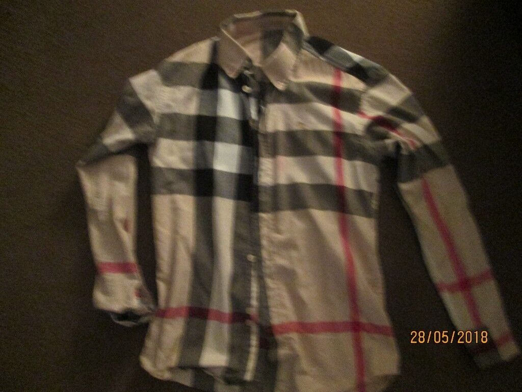 0b3a7d88a8 mens burberry style shirt size small | in Paisley, Renfrewshire | Gumtree