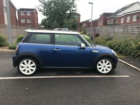 58 plate Mini Cooper S 3DR Hatchback Blue
