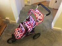 Mamas and Papas Dolls Double Decker Pushchair/Jogger