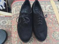 New Look ladies flat shoes wide fit size 6 suede black colour used £3