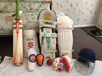 Cricket gear for right hand batsman