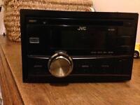 JVC KW-R400 Double-Din Headunit CD MP3 iPod iPad Aux Sub