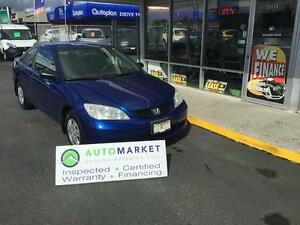 2004 Honda Civic DX SE COUPE AUTO WARRANTY TOO!!