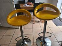 Yellow kitchen bar stools