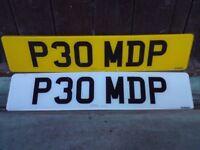 P30MDP CHERISHED / PRIVATE F+R PLATES INC DVLA RETENTION DOCUMENT FREE UK P+P E**Y ITEM 263010180693