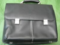 Brand New Toshiba Black Plastic Laptop Briefcase