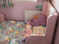 IKEA pink children's extendable bed